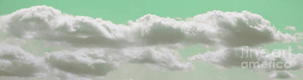 Photograph - Green Light In Cloud Panorama by Donna L Munro