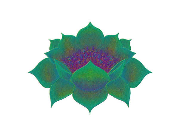 Digital Art - Green Lotus by Elizabeth Lock