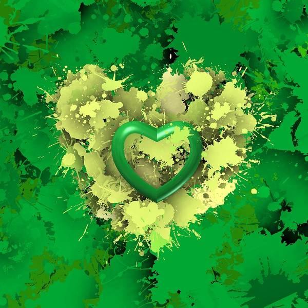 Digital Art - Green Love 2 by Alberto RuiZ