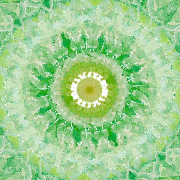 Mandala Wall Art - Painting - Green Mandala- Abstract Art By Linda Woods by Linda Woods