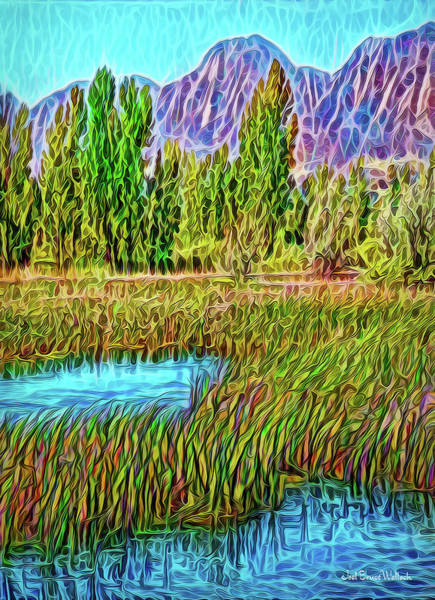 Digital Art - Green Meadow Realizations by Joel Bruce Wallach