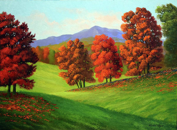 Painting - Green Mountain Autumn by Frank Wilson