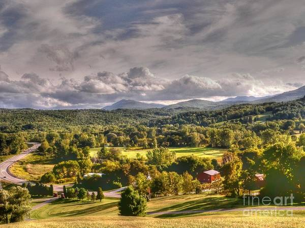 Rutland Photograph - Green Mountains Of Vermont by David Bearden