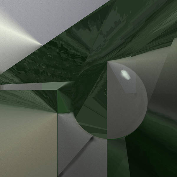 Painting - Green N Gray by Eugene Foltuz