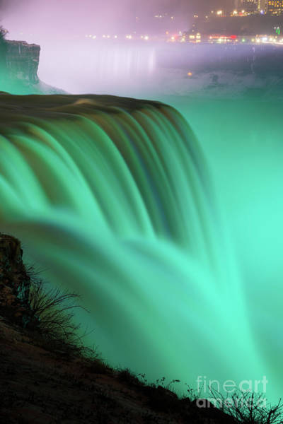Wall Art - Photograph - Green Niagara Falls In Motion  by Michael Ver Sprill