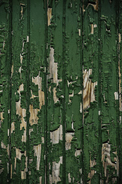 Disintegrate Photograph - Green Paint On Old Boards by Garry Gay