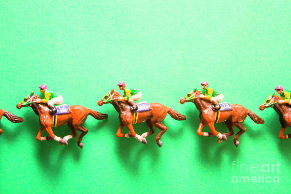 Thoroughbred Racing Wall Art - Photograph - Green Paper Racecourse by Jorgo Photography - Wall Art Gallery