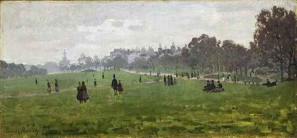 Royal Street Painting - Green Park In London, 1871 by Claude Monet