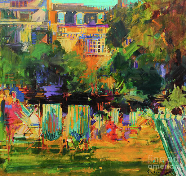 Wall Art - Painting - Green Park  by Peter Graham