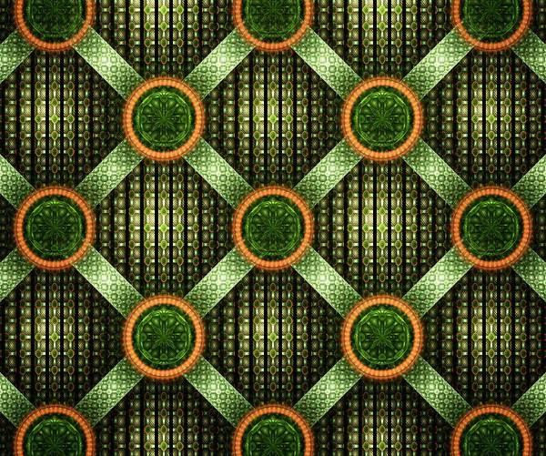 Digital Art - Green - Pattern - Fractal by Anastasiya Malakhova