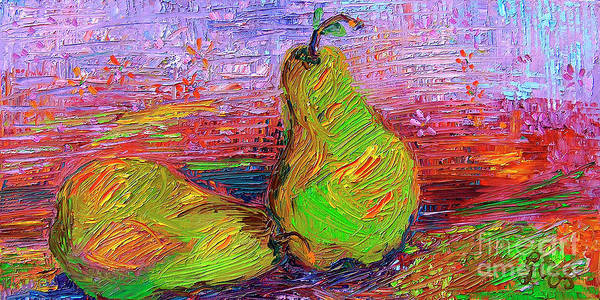 Painting - Green Pears By Ginette by Ginette Callaway