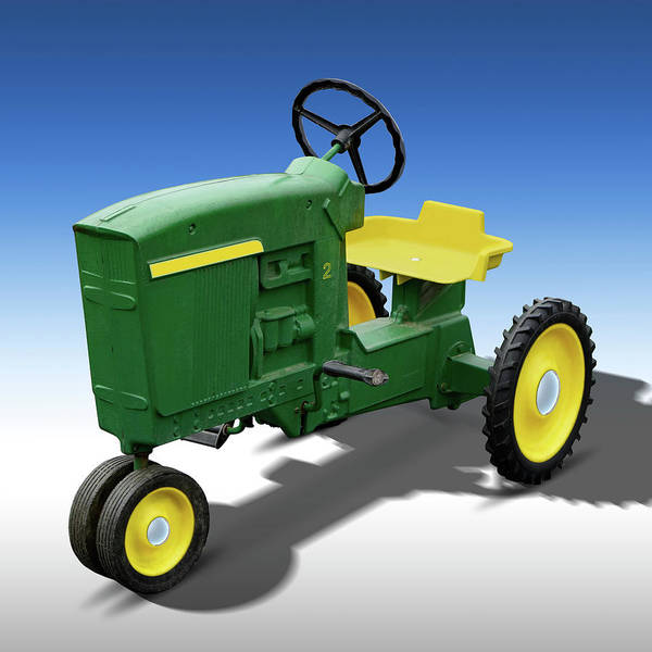 Green Car Photograph - Green Peddle Tractor by Mike McGlothlen