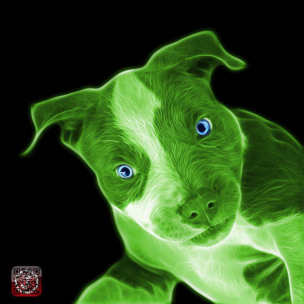 Painting - Green Pitbull 7435 - Bb by James Ahn