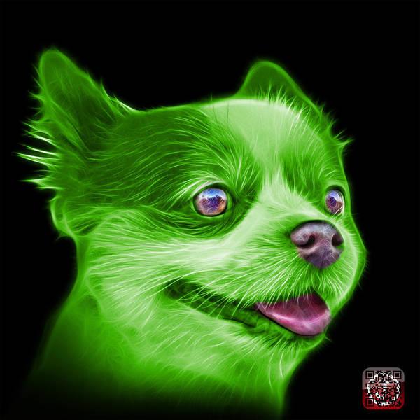 Painting - Green Pomeranian Dog Art 4584 - Bb by James Ahn