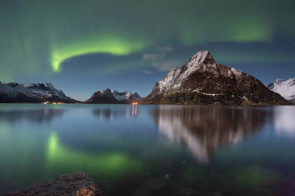 Photograph - Green Reflection by Alex Conu
