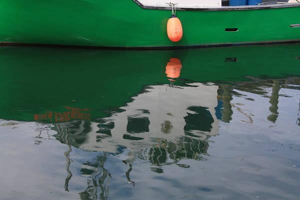 Photograph - Green Reflection by David Matthews