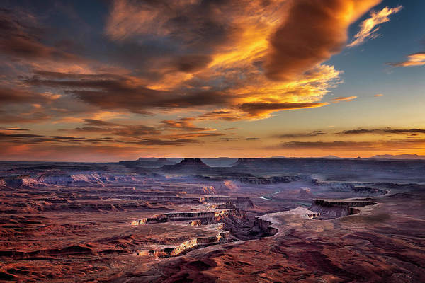 Photograph - Green River Overlook At Sunset by Michael Ash