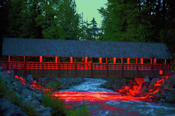 Green River Runoff And Covered Bridge Art Print