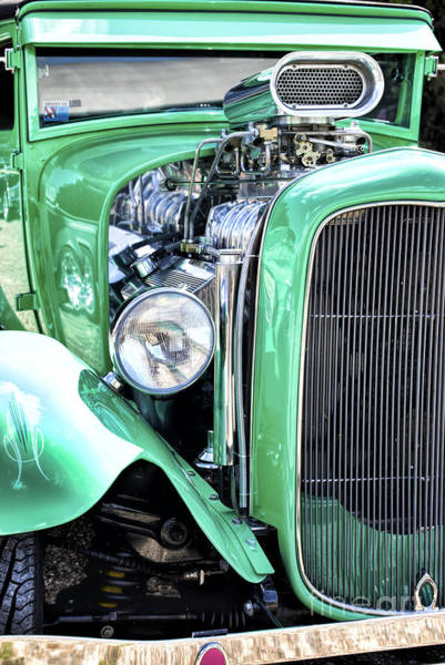 Street Rod Photograph - Green Rod by Tim Gainey