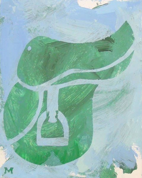 Painting - Green Saddle by Candace Shrope