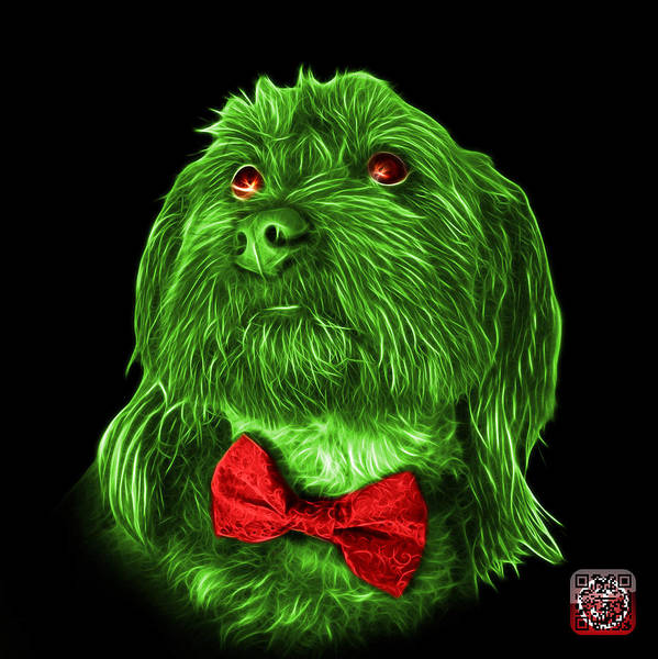 Painting - Green Schnoodle Pop Art 3687 - Bb by James Ahn