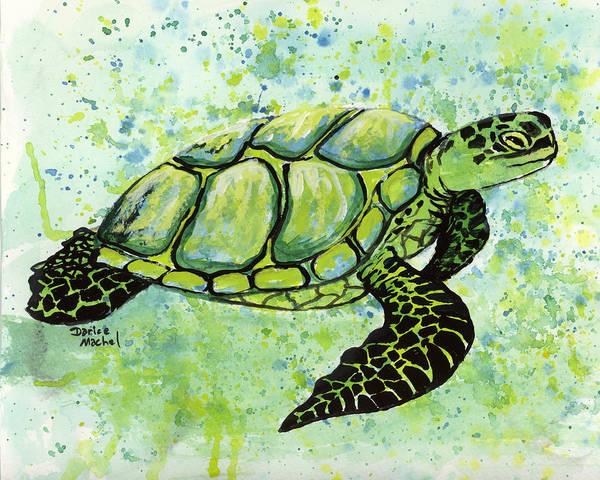 Painting - Green Sea Turtle 2 by Darice Machel McGuire