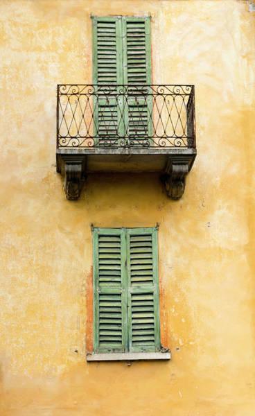 Wall Art - Photograph - Green Shuttered Windows by Oscar Gutierrez