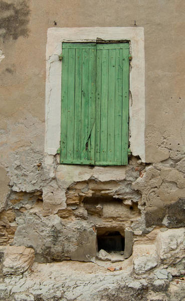 Photograph - Green Shutters - Avagnon Historic District by Jani Freimann
