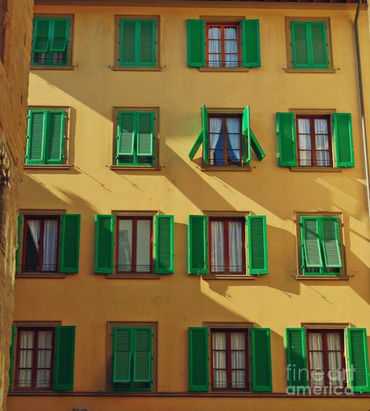 Photograph - Green Shutters Of Florence by Patricia Strand