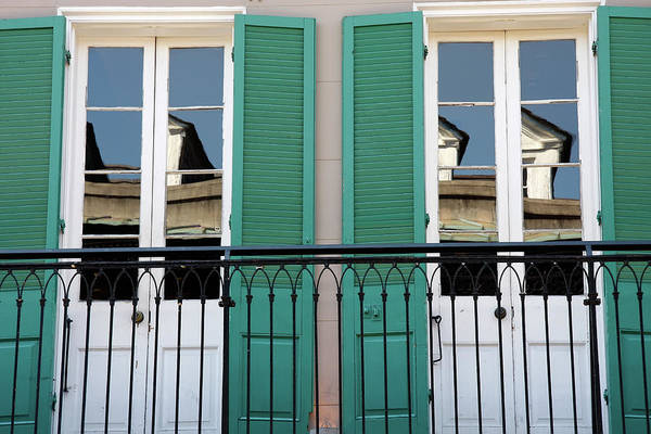 Photograph - Green Shutters Reflections by KG Thienemann