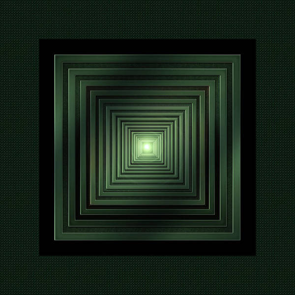 Showpiece Digital Art - Green Solstice by Andy Young