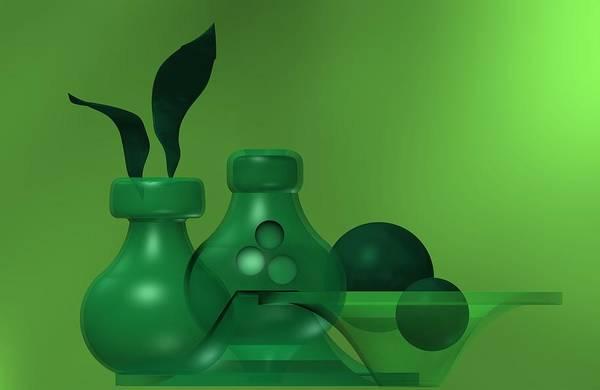 Digital Art - Green Still Life by Alberto RuiZ