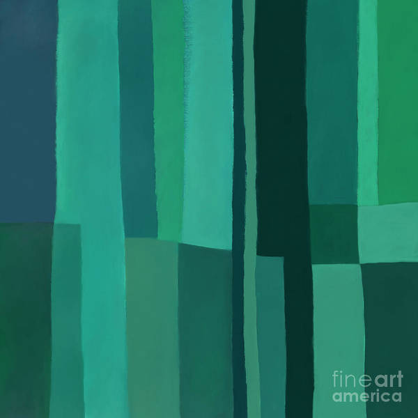 Digital Art - Green Stripes 1 by Elena Nosyreva