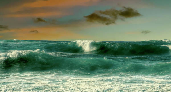 Ohau Wall Art - Photograph - Green Surf Break Of Hawaii by Daniel Hagerman