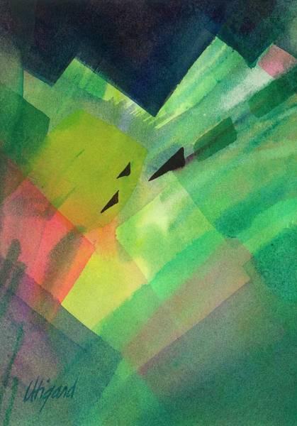 Painting - Green Takeoff by Carolyn Utigard Thomas