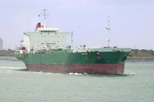 Photograph - Green Tanker Underway by Bradford Martin