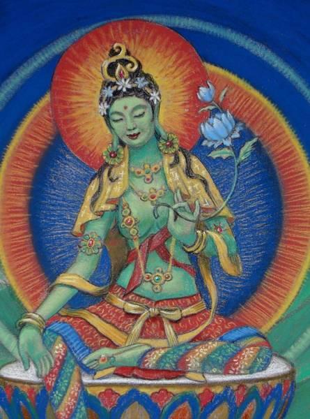Goddess Wall Art - Painting - Green Tara by Sue Halstenberg