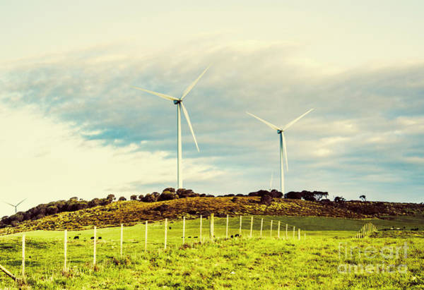 Wind Generators Photograph - Green Tasmania by Jorgo Photography - Wall Art Gallery