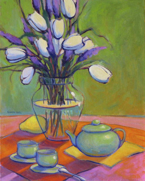 Painting - Green Teapot by Konnie Kim