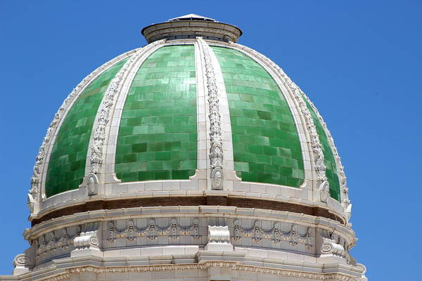 Photograph - Green Terracotta Dome Closeup by Colleen Cornelius