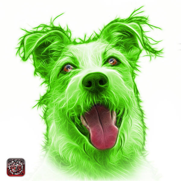 Painting - Green Terrier Mix 2989 - Wb by James Ahn