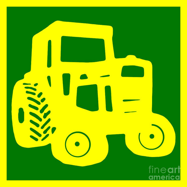 Photograph - Green Tractor T-shirt by Edward Fielding