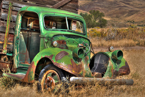 Photograph - Green Truck In Reno by William Havle
