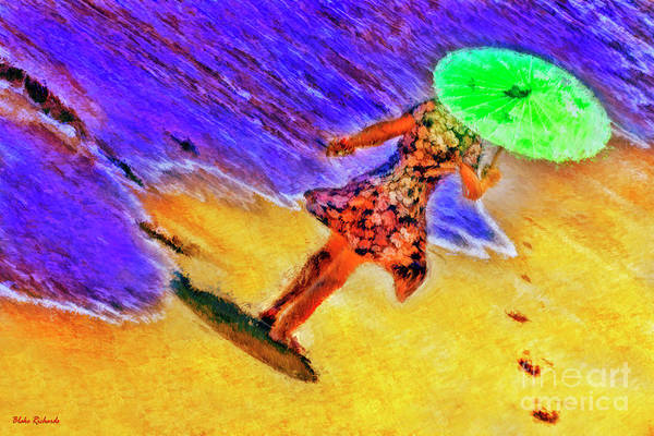 Photograph - Green Unbrella Stroll by Blake Richards