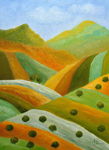 Painting - Green Verve by Angeles M Pomata