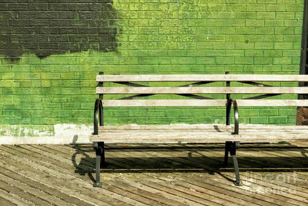 Photograph - Green Wall At Brighton Beach by John Rizzuto