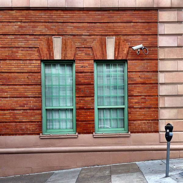 Wall Art - Photograph - Green Windows And Parking Meter by Julie Gebhardt