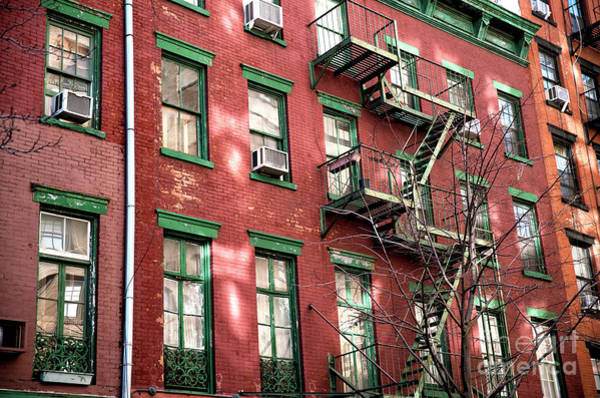 Photograph - Green Windows In The Village by John Rizzuto