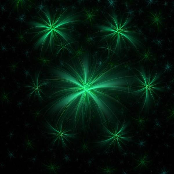 Digital Art - Green Wishes by Angie Tirado