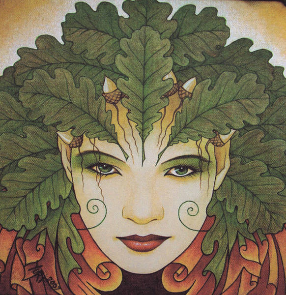 Wiccan Painting - Green Woman by Yuri Leitch